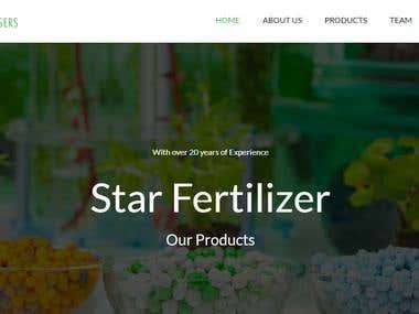 StarFertilizer Website