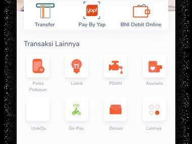 UI/UX BNI Mobile Banking