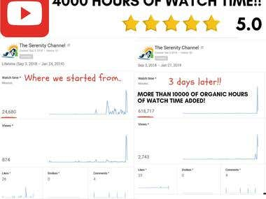 YouTube Channel - 4000 Hours of Watch Time!