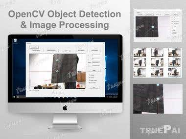 OpenCV object detection and image processing