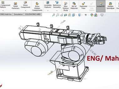 Robotic Arm for holding parts - Designed on SolidWorks