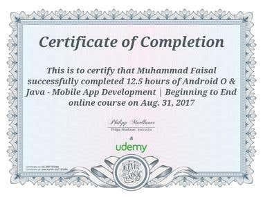 Andriod Developer Certification