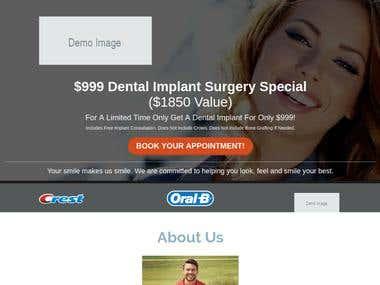 Dental Implant Funnel/Landing Page