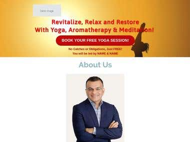 Yoga Funnel/Landing Page