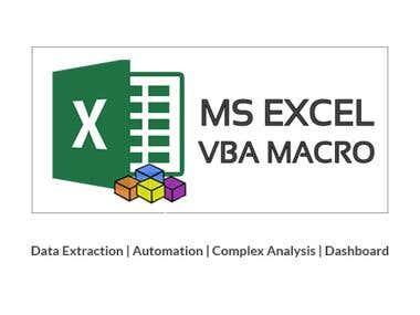 Excel Macros - VBA - Automation - Dashboard - Formulas