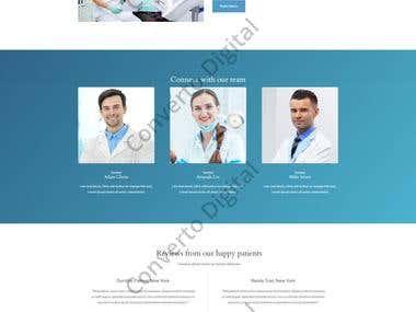 Dental Clinic Wordpress Website Mockup