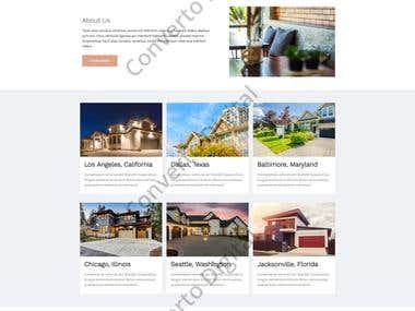 Real Estate Wordpress Website Mockup