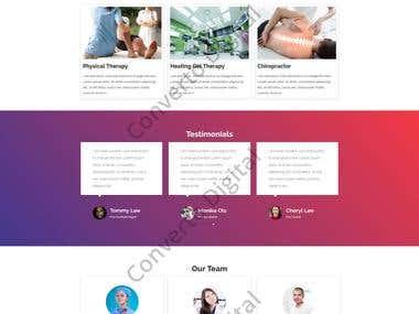 Ortho Practor Wordpress Website Mockup