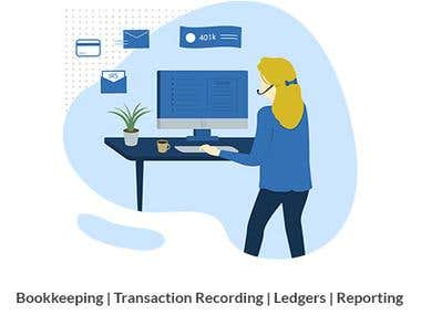 Bookkeeping - Transaction Recording - Ledger Creation
