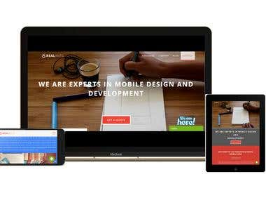 Dynamic Website for Web/Mobile Design and Development
