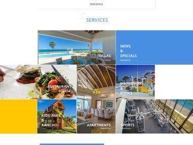 Corporate website for Ocean Village Deluxe