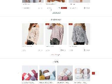 Online shop for Knitdesign company