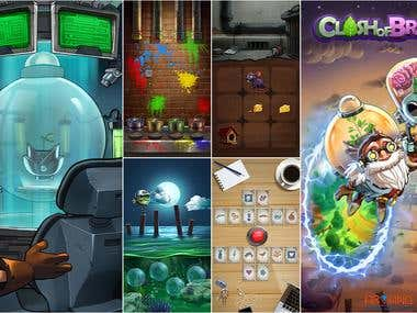 """""""Clash of Brains"""" Game Project"""