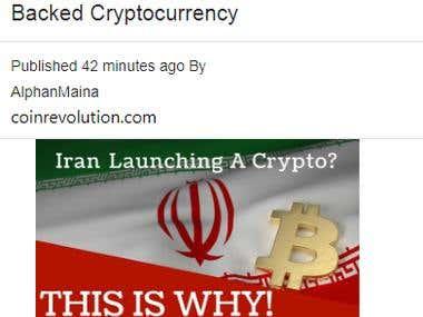 Cryptobeans (Crypto News Aggregator)