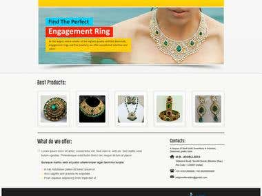 MB Jewellers Bikaner India Static Jewellery Website