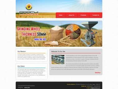 Prachi Industries HTML Website