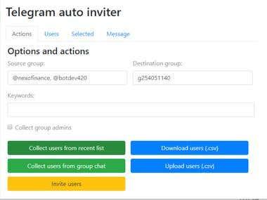 Telegram Automation - Chrome Extension