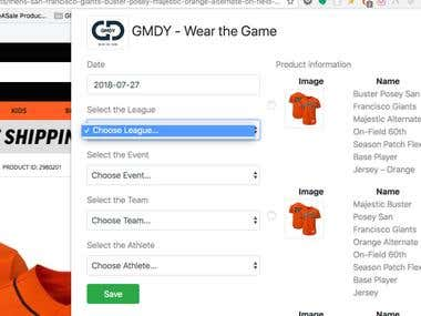 GMDY Sports Startup Browser Extension