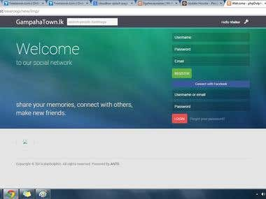 Facebook login script for a social website