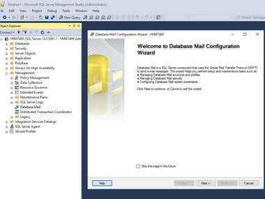 Setup and Configure Database Email on Microsoft SQL Server