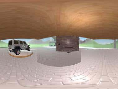 Virtual walk by building 360º video