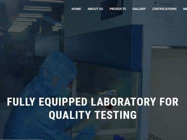 Wordpress website designed for Medical Devices firm