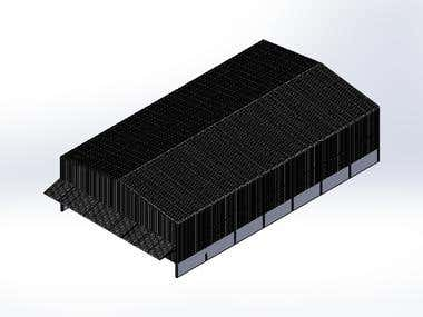 INDUSTRIAL WAREHOUSE - STEEL PROFILE + METAL SHEET ROOF