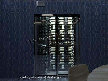 Wine Cellar modeling and Render