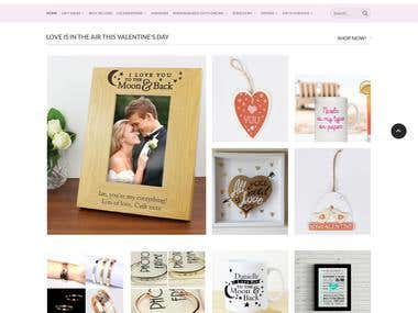 WordPress Woo-commerce for Gift store
