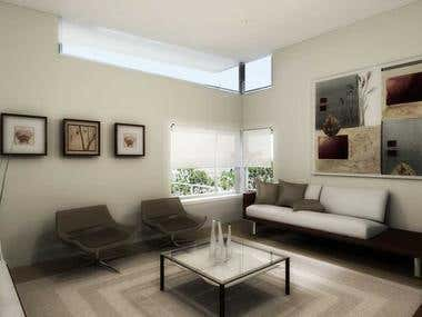 The living room design