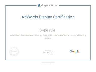 Adword Display Certificate
