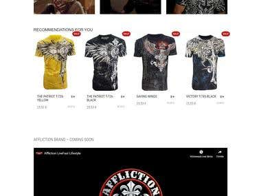 American Tees - Affliction. Xtreme Couture. MMA. ROCK