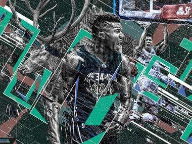 Giannis Antetokounmpo Monster Artwork