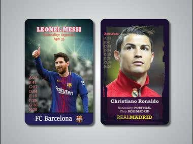 trading cards concept