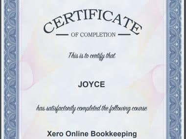 Xero Bookkeping Certification