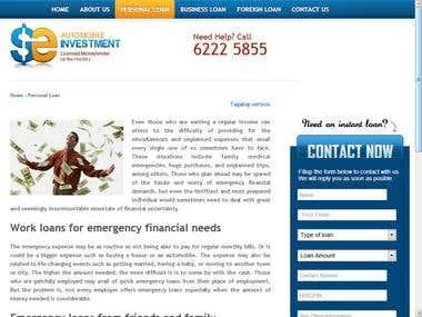 Automobile Investment Website
