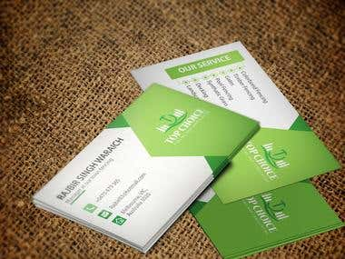 LANDSCAPING BUSINESS CARD DESIGN