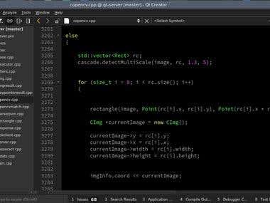 OpenCV4 + RESTful API + Qt5