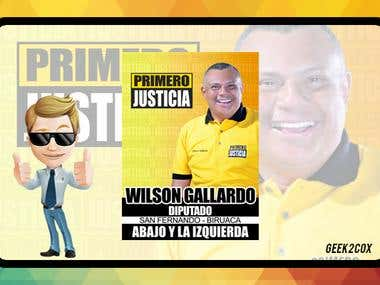 Flyer - Candidato a Diputado (Venezuela)