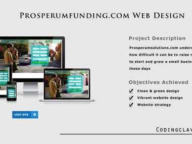 Website Design form sketch (www.prosperumfunding.com)