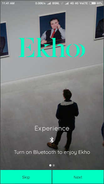 Ekho APP based on iBeacons