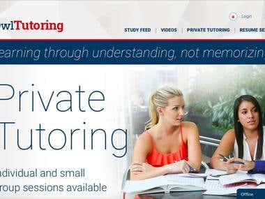 Website for Private Tutoring