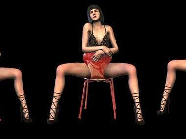 Naked girl 3d model for printing