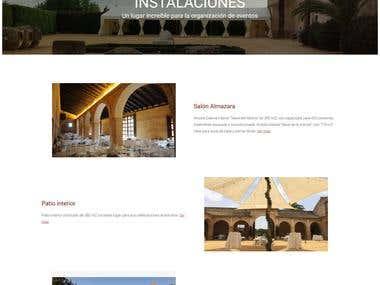 Diseño y maquetación web Los Molinos de Maestre