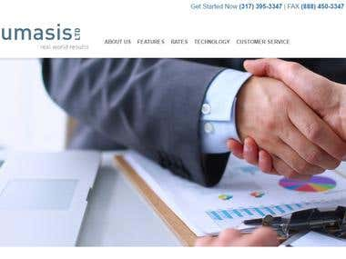 Design And Developed Single page Lumasis