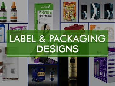 Label & packaging design