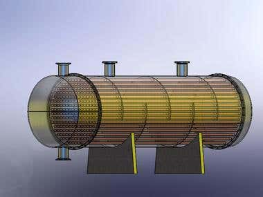 Heat Exchanger (Shell and tube) with flow simulation