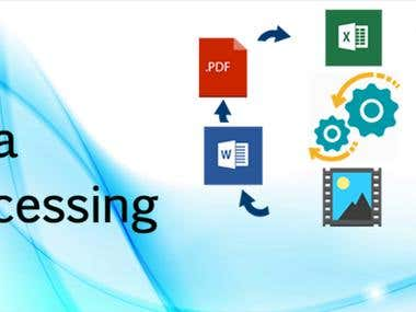 Data processing services.