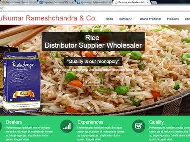 Rice Distributor Website