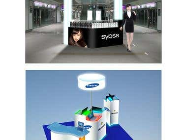Booth Design for Samsung & Syoss